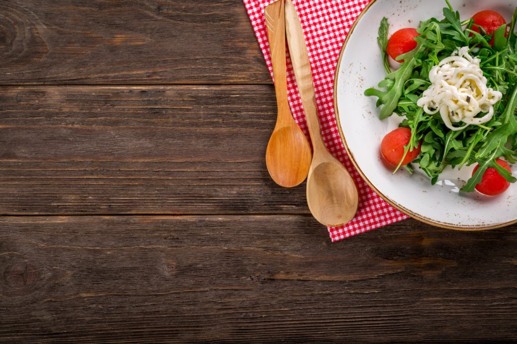 A bowl of salad that is ketogenic diet friendly